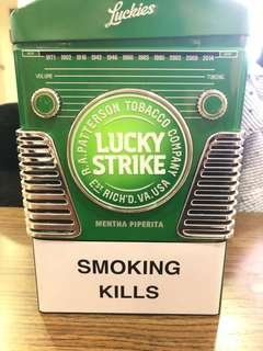 Limited edition lucky strike box ( empty )