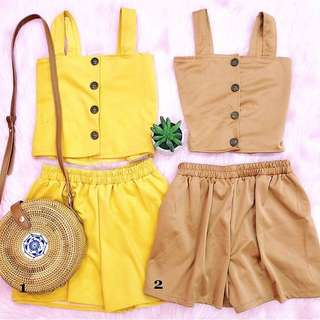 Top and shorts set brand new
