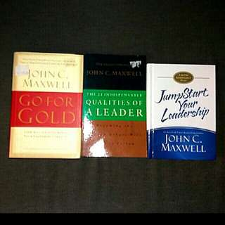 3 bn  bks by John Maxwell Go For Gold / Jumpstart Your Leadership 21 indispensable of Leader qualities