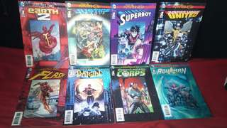 Lot of 9 New 52 Futures End Lenticular Variants