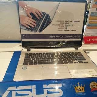 Laptop asus a407ua i3-6006u bisa dicicil proses cepat