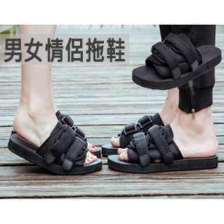 [男女情侶拖鞋] 情侶潮搭,男女夏日之選,具有透氣性,防滑耐磨鞋底,穿著舒適,適合家居和戶外穿著