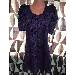 Violet leopard dress