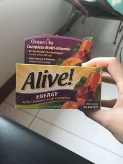 Alive Energy Multi-Vitamin-Multi-Mineral Dietary Supplement 60 Tablets