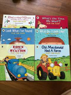 Walker Flip The Flap Set is 6 Books Toddlers