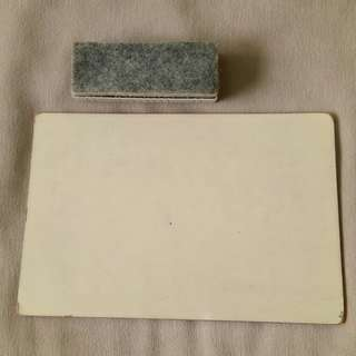 A4 WOODEN WHITEBOARD + PEELABLE DUSTER (5 SHEETS)