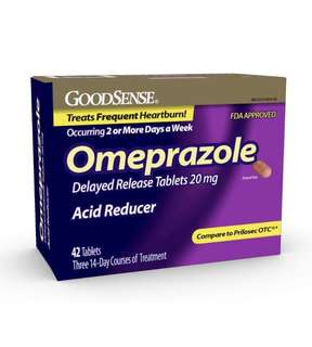 [IN-STOCK] GoodSense Omeprazole Delayed Release, Acid Reducer Tablets 20 mg, 42 Count