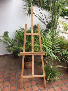 Artist Wood Floor Easel
