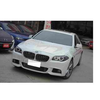 12 BMW F10 528I 白 低月付 全額貸 100%過件 0元交車 買車找現金唷 拖車戶/無薪轉勞保/八大/職業軍人 皆可辦理