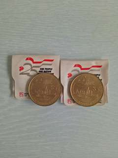 Aluminium Bronze 5 Dollars Mint Condition 2pcs $19