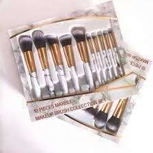 💫10 pcs marble makeup brushes