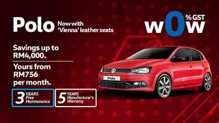 New Volkswagen Polo 1.6 2018 Promotion