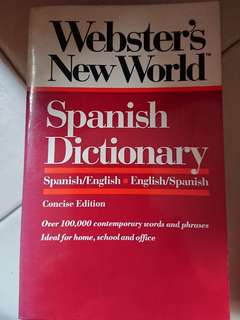 Spanish dictionary Websters New World