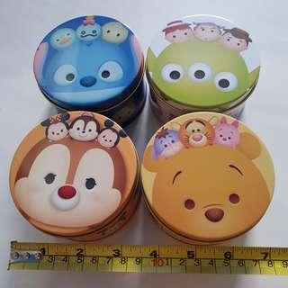 $1.50 each Disney Tsum Tsum metal container