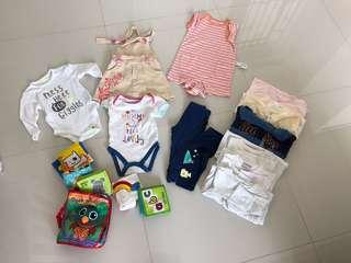 [Preloved] (0-12M) Baby Girl Clothings In Bundle