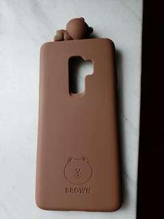 Samsung S9+手機殼 (正版LINE Brown熊大)
