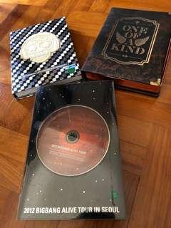 G dragon and Big Bang CD & DVD