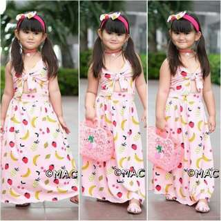 Fruit Print Maxu Dress