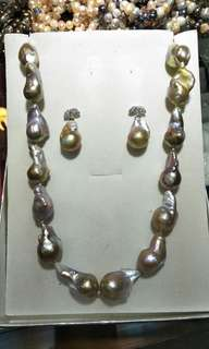 PINK BAROQUE PEARL (Earring & Necklace)