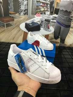 阿迪達斯adidas三葉草 superstar slio on 潮流滑板鞋