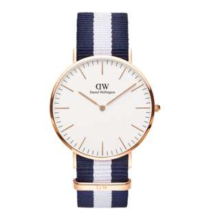 NEW Daniel Wellington Glasgow Men's Watch in Rosegold