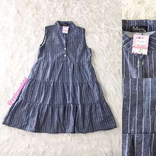VL5559	Newly collection button front denim dress