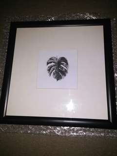 Black frame with perspex front