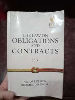 The Law on Obligations and Contracts by Hector M. De Leon