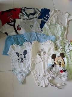 Preloved Newborn Baby Boy's Clothes Bundle Set