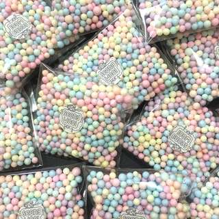 small pastel foam beads pack