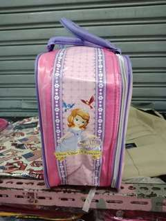 # angelfans # Bag # Travel # bag # # material # canvas # illustrated # # karkter # anak2 ## # size # 40 * 28 * 16 cm # #spot # # luggage # # skin #sintentiss # sash # # + # # reseleting + rubber + taliselempang # + hook # wear # iron #