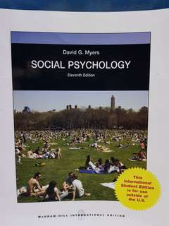 Uni Textbook- Social Psychology (11th Ed)