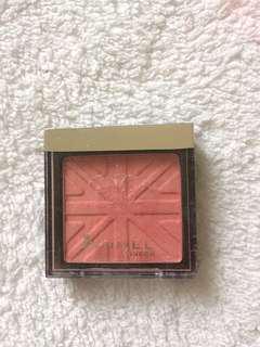 pink blush on