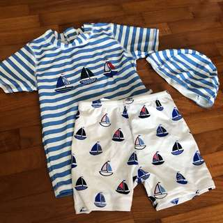 4-5T NEW Swim wear rash guard toddler boy