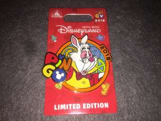 香港迪士尼 徽章 Disney Pin Pingo 2018 白兔先生 LE600