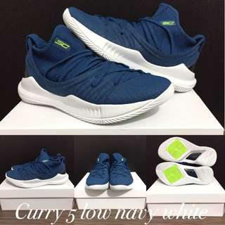 Under armour curry 5 low navy white