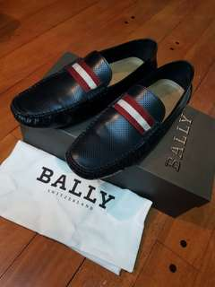 AUTHENTIC BALLY Calf Perforated Loafers - US 8 fits to 9-9.5 . not hermes cole haan prada