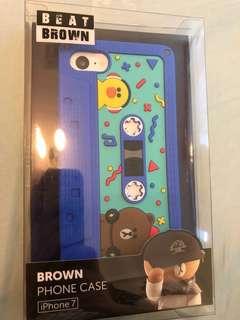 正版 Line Friends iPhone 7/8 硅膠手機保護殼