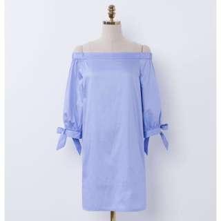 🚚 一字領洋裝Mercci22