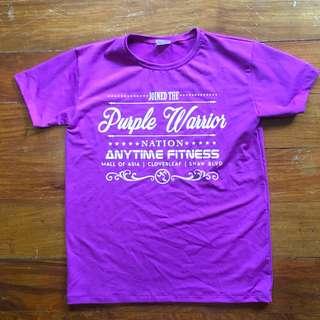 Anytime fitness membership tshirt purple