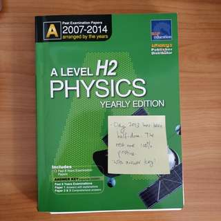 NEW H2 Physics TYS For A levels