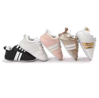 (PO) New Fashion Sneakers Newborn Baby Crib Shoes Boys Girls Infant Toddler