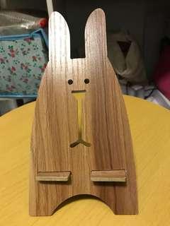 木製兔仔手機架