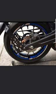 CB150R RIM STICKER