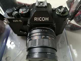 RICOH KR-5 菲林相機 連長短中鏡 送防潮箱