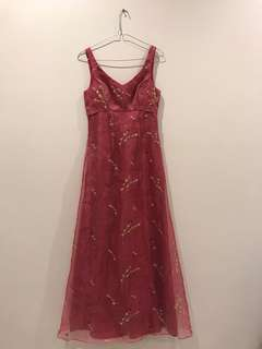 Vintage Pink with flowers formal dress