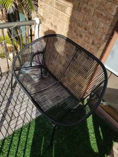 Outdoor wire black lounge chair