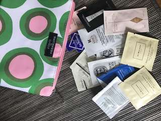 Bundle Clinique Marimekko case with samples from Jo Malone NARS Charlotte Tilbury Khiels etc