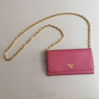 Pink Prada Wallet authentic