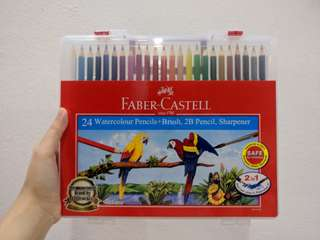 Faber Castell 24 Watercolour Pencil + Brush Set